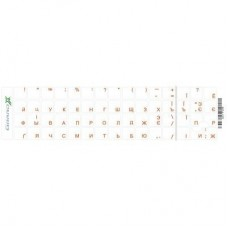 Наклейка на клавиатуру Grand-X 60 keys transparent protection Cyrillic orange (GXTPOW)