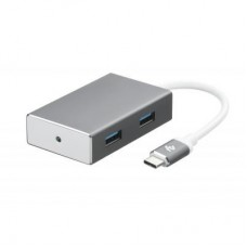 Концентратор 2E Type-C to 4*USB3.0, Aluminum, 0.20 м (2E-W1407)